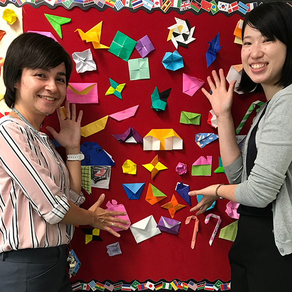A Japanese language teacher and assistant teacher